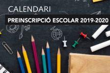 Calendari de Preinscripció als centres educatius per al curs 2019-2020