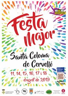 Cartell Festa Major Santa Coloma de Cervelló 2019