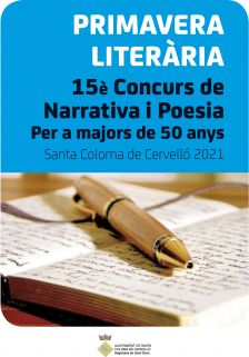 15è Concurs de narrativa i poesia per a majora de 50 anys Primavera Literària